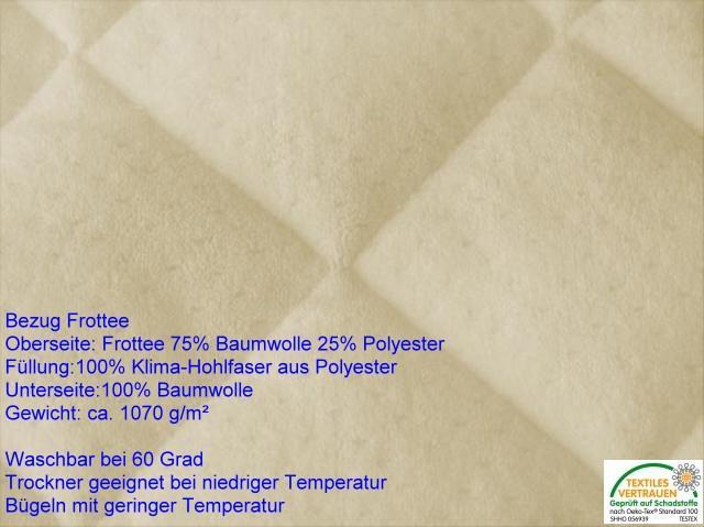 Wasserbetten komplett Auflage / Bezug Frottee